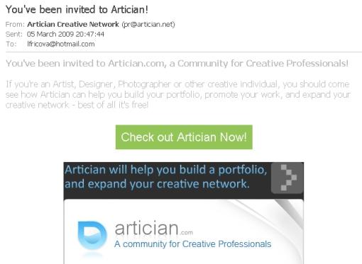 artician-invite